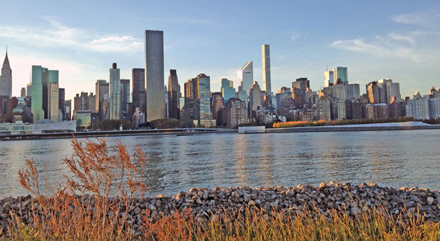 Manhattan skyline across East River