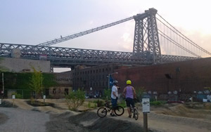 view of bridge from williamsburg brooklyn