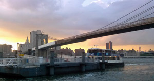 view of fulton ferry landing in dumbo