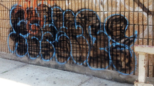 Brooklyn graffiti throw up