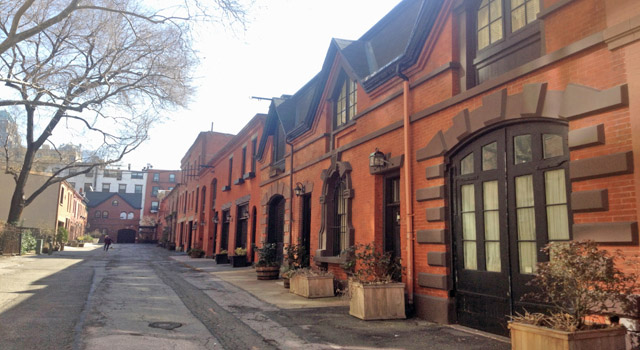mews lane of carriage houses in brooklyn heights