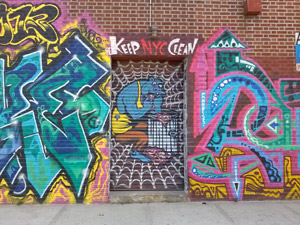 graffiti on doorway