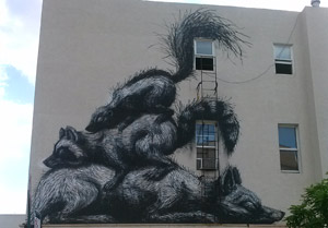 street art mural in brooklyn