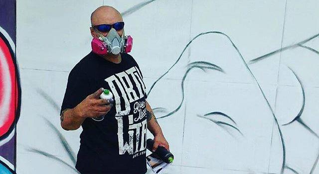 Graffiti artist Sexer