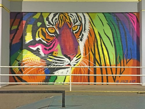 large artwork of of a tiger